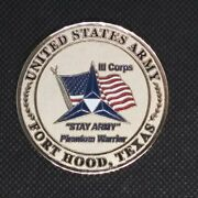Us Army Fort Hood Texas Lll Corps Oath Challenge Coin