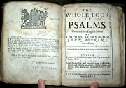 C1680 Book Of Common Prayer Black Letter Holy Bible English Leather Psalms David