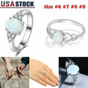 2 Types Fire Opal Ring In 925 Sterling Silver Gemstone Jewelry Ring Size 6 7 8 9