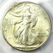 1946-d Walking Liberty Half Dollar 50c Coin - Certified Pcgs Ms67 - 3000 Value