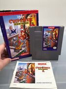 Chip Nand039 Dale Rescue Rangers 2 Cib Original Nintendo Nes Game Tested Authentic