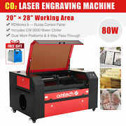 Omtech 80w 28x20 Co2 Laser Engraving Engraver Cutter With Cw-3000 Water Chiller