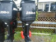 Used 2005 225 Hp Mercury Optimax 2-stroke 25 Outboard 800 Hours
