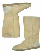 Ugg Classic Tall Light Brown Boots Leather Sheepskin Woman's Size 7