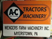 Allis Chalmers Dealer Sign Very Nice Reproduction Same Size As Original