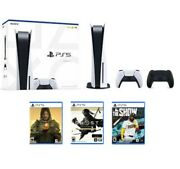 Playstation 5 Console Bundle 3 New Games And Extra Controller Includedandnbsp
