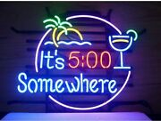 Ldgj Neon Signs Art Wall Lights For Bar Club Party It's 500 Somewhere Us Stock
