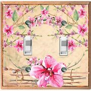 Metal Light Switch Cover Wall Plate For Bedroom Floral Vine Arch Damask Flw165