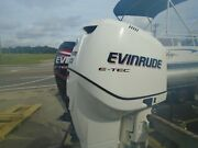 Used 2011 300 Hp Evinrude Etec 25 Outboard Boat Motor -789 Hours -125psi