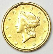 1852 Liberty Gold Dollar G1 - Au Details - Rare Early Coin