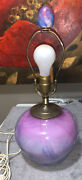 Michael Nourot Signed Dated Art Glass Lamp Body 10andrdquo Multicolor