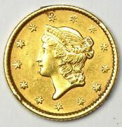 1853 Liberty Gold Dollar G1 - Au Details - Rare Early Gold Coin
