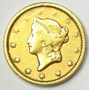1851 Liberty Gold Dollar G1 - Xf Details - Rare Early Gold Coin