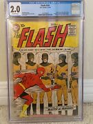 Flash 105 Cgc 2.0 1st Silver Age Flash In His Own Title 1st App Of Mirror Master
