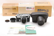 [top Mint]nikon S3 Year 2000 Limited Edition W/nikkor-s 50mm F/1.4 Lens Box 7273