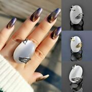 Vintage Big Opal Stone Rings Antique Silver Color Wedding Band Jewelry Gifts New