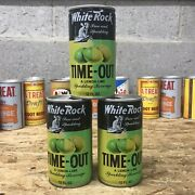 Lot Of 3 Vintage White Rock Time-out Lemon-lime Soda Cans Empty
