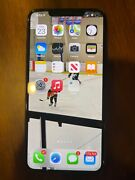 Apple Iphone Xs Max - 256gb - Silver Unlocked Broken Front And Back Screen