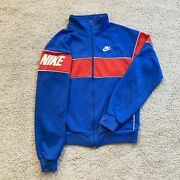 Vintage Nike Jacket Mens Extra Large Adult Blue Red Spell Out Casual Men 80s