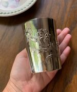Carnation Nouveau 950 Sterling Silver Julep Wine Cup French Belle Epoque No Mono