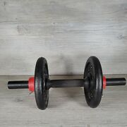 Adjustable Dumbell Bar With Weights 10lbs Total