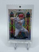 2021 Mike Trout Prizm Fotl Silver Shimmer Stained Glass Ssp /7 Angels Rare