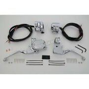 V-twin Manufacturing Chrome Handlebar Control Kit W/switches - 22-1524