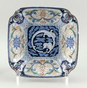 """Antique Doucai Porcelain Square Bowl 19th Century Height 3.25"""" And Top 11"""" X 11"""""""