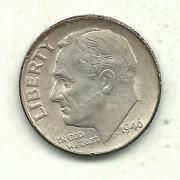 Very Nice High Grade Au 1946 P Roosevelt Silver Dime-old Us Coin-agt342