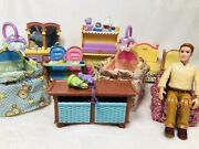 Fisher Price Dollhouse Furniture Loving Family Nursery Pieces