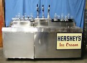 Vintage 6and039 Stainless Steel Hersheyand039s Ice Cream Soda Fountain On Wheels