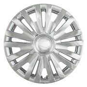 New Set Of 4 15andrdquo Chrome Abs Hubcaps Wheel Covers For 2010-2014 Vw Golf