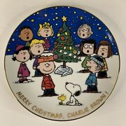 Danbury Mint Merry Christmas Charlie Brown Peanuts Magical Moments Plate