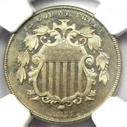 1877 Proof Shield Nickel 5c Coin - Ngc Proof Details Pr / Pf - Rare Date