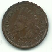 A Vintage Vf Very Fine Details 1883 Indian Head Cent-old Us Coin-jul427