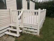 Static Caravan Decking 18x6ft With New Steps And Gate