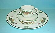Johnson Brothers Victorian Christmas 3 Piece Dinnerware Place Setting...2 Sets