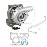 Turbo W/ Turbocharger Gaskets And Oil Feed Line For Chevy Gmc 6.6l Duramax Lmm