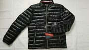 New Menand039s Light Weight Warm Like Down Puffer Black Jacket Size M