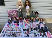 Huge 15 Bratz Dolls And Accessories Lot, 2 Rare Large Bratz And 70+ Shoes As Is