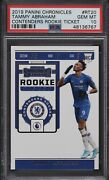 2019-20 Panini Contenders Chronicles Tammy Abraham Rc Rookie Psa 10