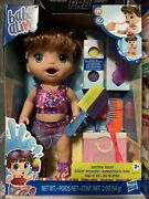 Baby Alive Sunshine Snacks Summer Themed Waterplay Doll And Accessories Brown Hair