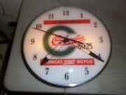Vintage Lighted Pam Clock Columbia Bicycles