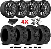 Fuel Covert Anthracite Wheels Rims Tires 265 70 17 Nitto G2 All Terrain At