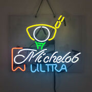 Real Glass Display Neon Sign Michelob Ultra 19x15