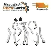 3015-33116 Awe Tuning 304 Ss Resonated Exhaust Track Edition For 19 Audi Rs5