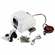 White 45 Lbs Marine Electric Anchor Winch 10.1x8.3x 6.5 With Wireless Remote