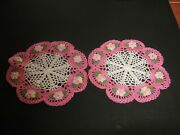 New Hand Crocheted Doilies -- Set Of 2 7