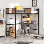 Black Loft Bed With Storage Shelves Pine Wooden Loft Bed Twin Stainless Steel