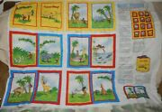 Daisy Kingdom Curious George Cotton Fabric Story Book Quilt Panel Yellow Monkey
